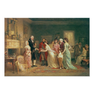 Washington's Birthday, 1798 Poster