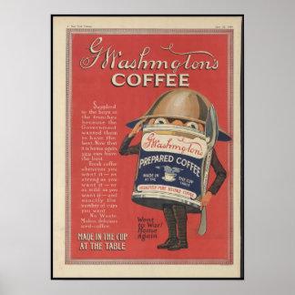 Washington's Coffee Poster