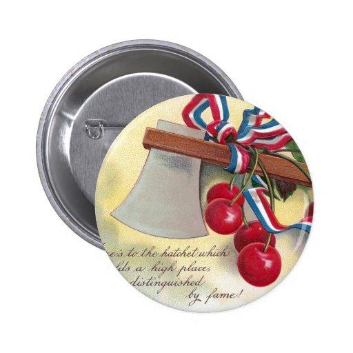 Washington's Hatchet and Cherries Buttons