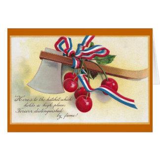 Washington's Hatchet and Cherries Greeting Card