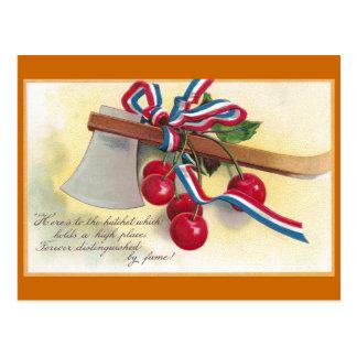 Washington's Hatchet and Cherries Postcard