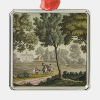 Washington's house at Mount Vernon, from 'Le Costu Metal Ornament