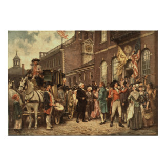 Washington's Inauguration at Philadelphia Poster