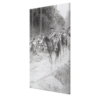 Washington's Retreat from Great Meadows Canvas Print