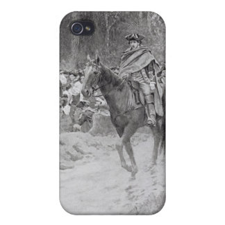 Washington's Retreat from Great Meadows iPhone 4 Covers