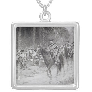 Washington's Retreat from Great Meadows Silver Plated Necklace