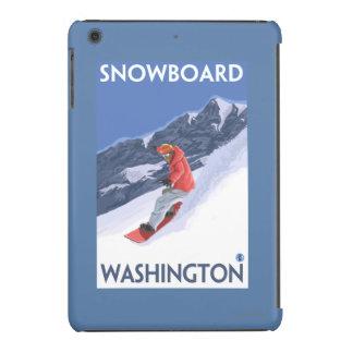 WashingtonSnowboarding Vintage Travel Poster iPad Mini Cases