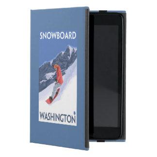 WashingtonSnowboarding Vintage Travel Poster Cover For iPad Mini
