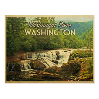 Washougal River Washington Postcard