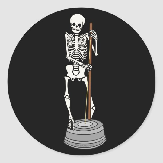 Washtub Bass Bones Classic Round Sticker