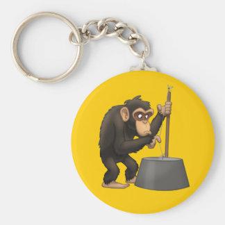 Washtub-Bass-Playin' Chimp Keychain