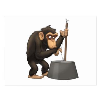 Washtub-Bass-Playin' Chimp Postcard