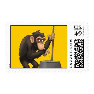Washtub-Bass-Playin' Chimp Stamps
