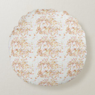 Washy Lion Patterned Round Pillow
