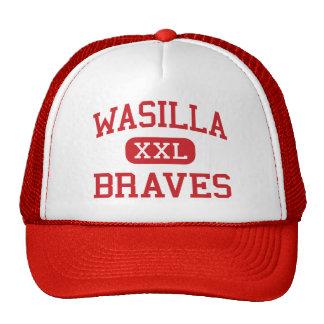 Wasilla - Braves - escuela secundaria - Wasilla Al Gorros Bordados