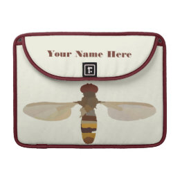 wasp bee insect nature science animal cute yellow MacBook pro sleeve
