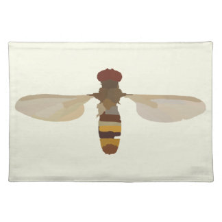 wasp bee insect nature science animal cute yellow placemat