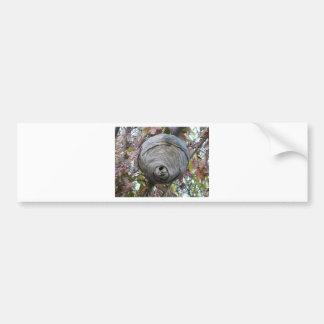 wasp nest bumper sticker