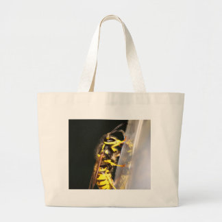 Wasp on a glass bags