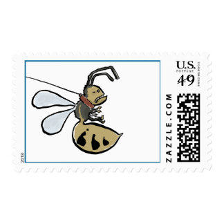 wasp on a leash postage