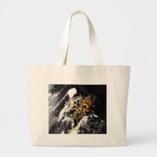 Wasp on ice canvas bags