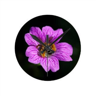 wasp round clock