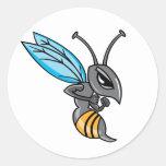 Wasp Sting Classic Round Sticker