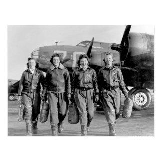 WASP - WOMEN AIR SERVICE PILOTS WW II POSTCARD