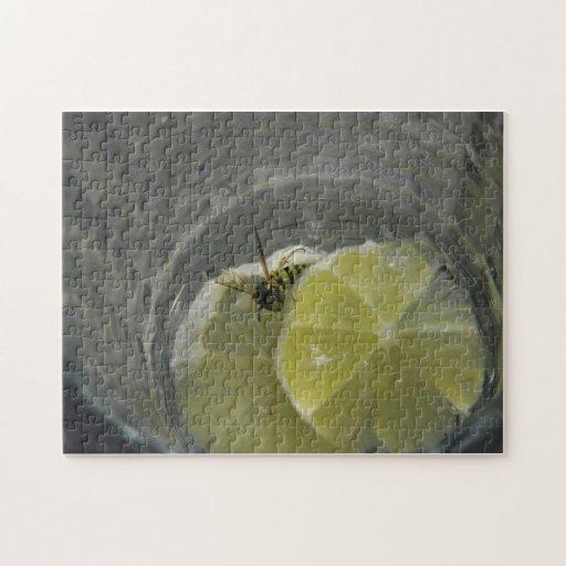 Wasps like martini also. jigsaw puzzle