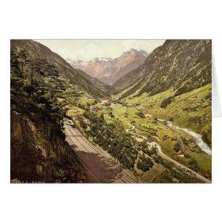 Wassen, vista de las tres pistas, St. Gotthard Rai Felicitaciones