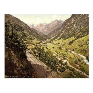 Wassen, vista de las tres pistas, St. Gotthard Rai Tarjetas Postales