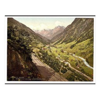Wassen, vista de las tres pistas, St. Gotthard Rai Tarjeta Postal