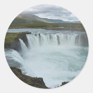 Wasserfal Runde Sticker