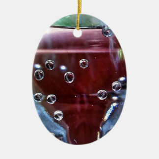 Wassertropfen joviales adorno navideño ovalado de cerámica