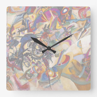 Wassily Kandinsky - Composition 7 Abstract Art Square Wall Clock