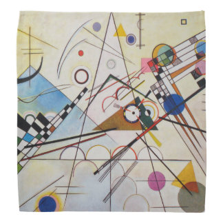 Wassily Kandinsky - Composition 8 - Functional Art Bandana