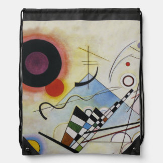Wassily Kandinsky - Composition 8 - Functional Art Drawstring Bag