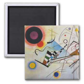 Wassily Kandinsky - Composition 8 - Functional Art 2 Inch Square Magnet