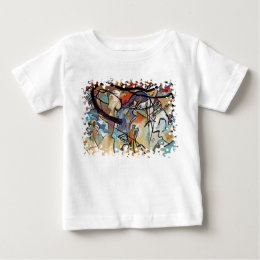 Wassily Kandinsky - Composition Five Abstract Art Baby T-Shirt