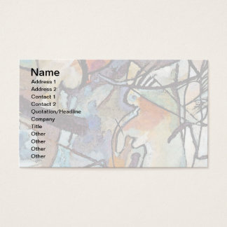 Wassily Kandinsky - Composition Five Abstract Art Business Card