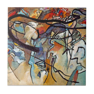 Wassily Kandinsky - Composition Five Abstract Art Ceramic Tile