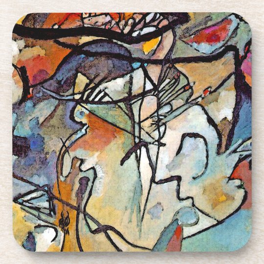 Wassily Kandinsky - Composition Five Abstract Art Drink Coaster