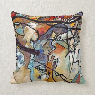 Wassily Kandinsky - Composition Five Abstract Art Throw Pillow