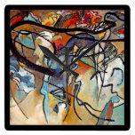 Wassily Kandinsky Composition Five Square Wallclock