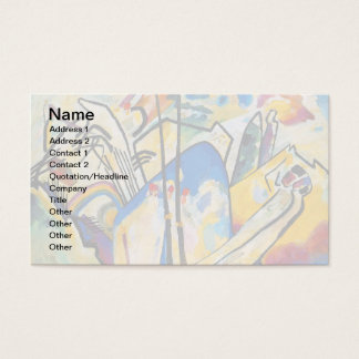 Wassily Kandinsky Composition Four - Abstract Art Business Card
