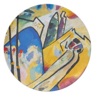 Wassily Kandinsky Composition Four - Abstract Art Melamine Plate