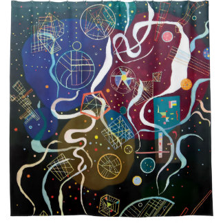 Wassily Kandinsky - Composition One Abstract Art Shower Curtain