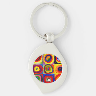 Wassily Kandinsky  Farbstudie Quadrate Colorful Keychain