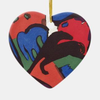 Wassily Kandinsky Franz Marc Blue Rider Painting Ceramic Ornament