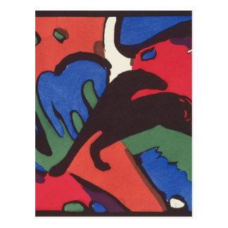 Wassily Kandinsky Franz Marc Blue Rider Painting Postcard